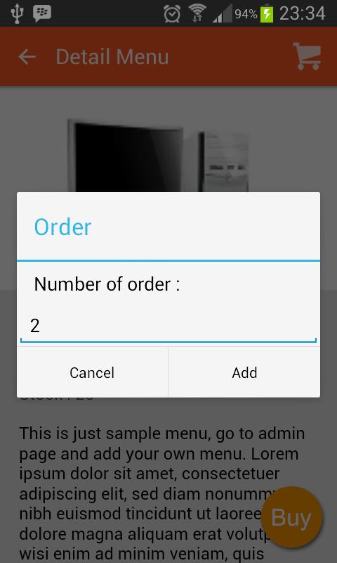 cart order